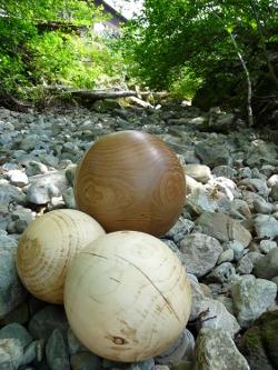 Holz Kugel, Deko Kugel, Gedrechselte Holzkugel
