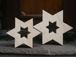 Deko Sterne mit Ausschnitt, Holzsterne, Weihnachstdeko, Schreinerei Vogler