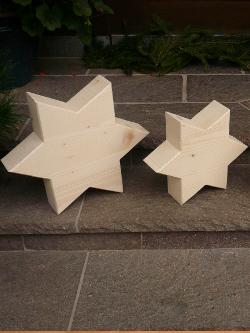 Holz Sterne, Dekosterne, Weihnachtsschmuck aus Holz